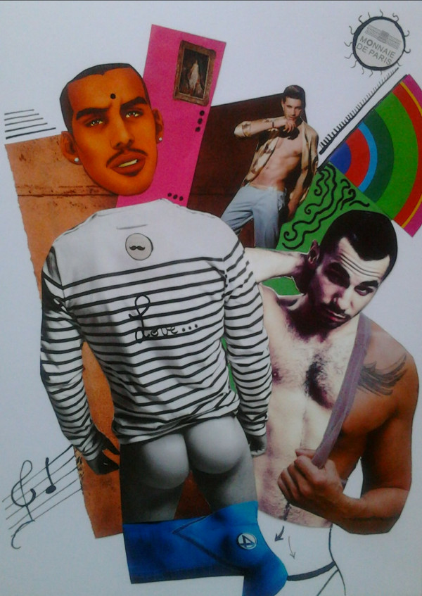 Boys for Fun - Collage sur papier 2013