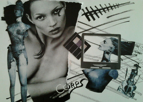 La Femme en Substance - Collage sur papier 2013