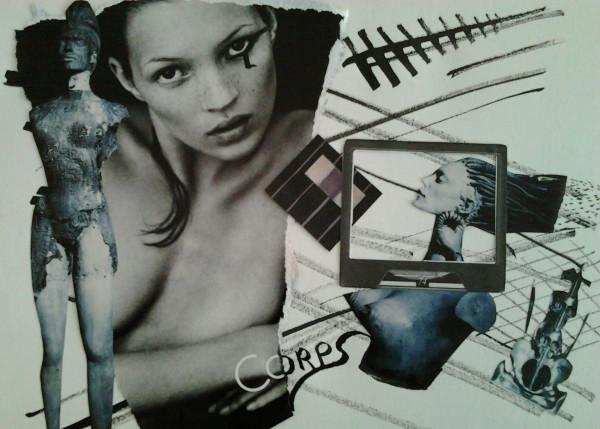 La Femme en Substance - Collage sur papier 2013