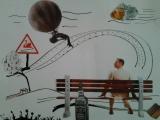 Périple éthylique - Collage sur papier 2013
