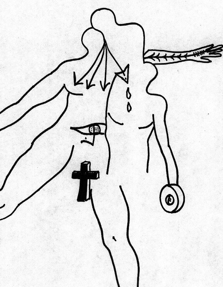 Humanisme - Marqueur sur papier 2001