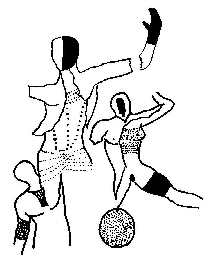 Mannequins Délabrés - Marqueur sur papier 2001
