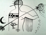 Métaphysique de l Etre - Encre de chine sur papier 2013