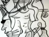 Queer Factory - Fusain sur papier 2013