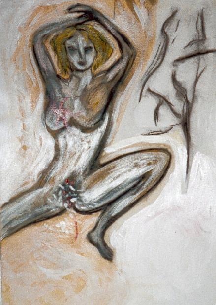La Femme selon Baudelaire - Technique mixte sur papier