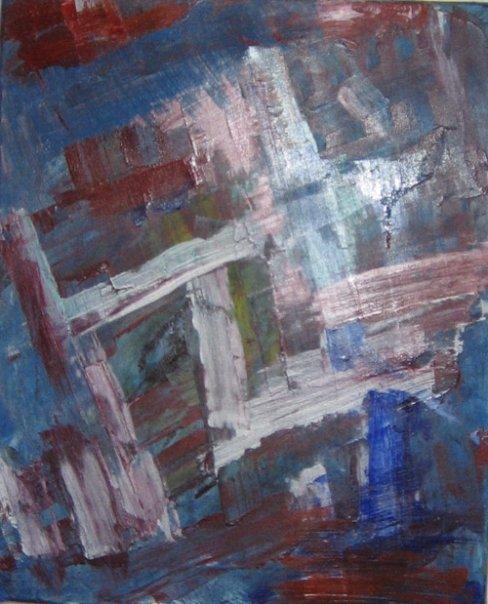 Accident - Acrylique sur toile 2006