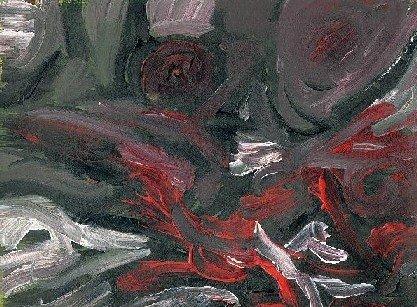 Cauchemar - Acrylique sur papier