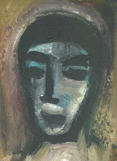 Adolescent - Acrylique sur papier cartonné 2001