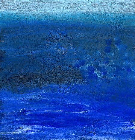 Bleu en Relief - Acrylique sur papier cartonné 2002