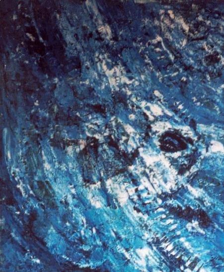 Dans le Bleu Infini du Ciel - Acrylique sur toile 2002