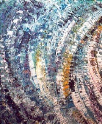 Emergence Concentrique - Acrylique sur toile 2002