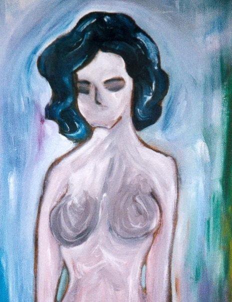 La Femme Silence - Acrylique sur contreplaqué 1996