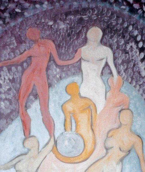 La Joie - Technique mixte sur carton entoilé 2001