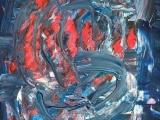 Abstraction au Couteau - Acrylique sur papier 2002