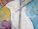 Bustes et Oiseau - Technique mixte sur toile 1999