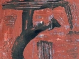 Ecrire II - Acrylique sur papier 2002