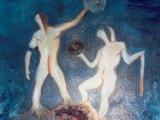 Exercice du Libre Arbitre dans le Chaos - Technique mixte sur toile 2001