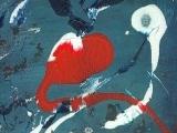 Hommage à Miro - Acrylique sur papier cartonné 2001