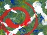 L Ange - Acrylique sur carton 2001