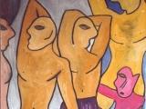 Les Nouvelles Demoiselles d Avignon - Technique mixte sur toile 2002