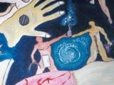 Les Serments s empoignent - Technique mixte sur carton entoilé 2001