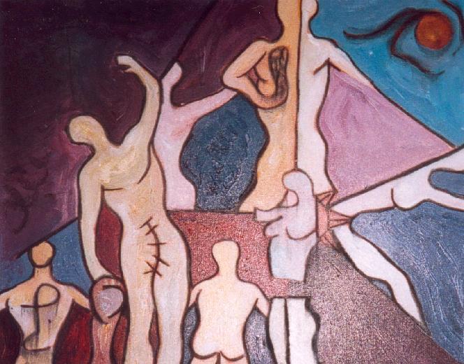 Une Bien Etrange Journée - Technique mixte sur toile 2002